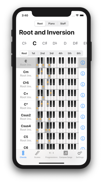 Piano Chords and Scales screenshot